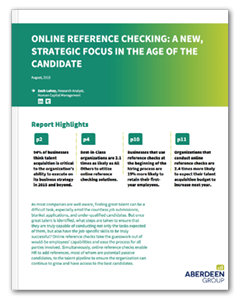 Online Reference Checking Aberdeen Whitepaper