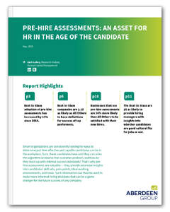 Pre-Hire Assessments Aberdeen Whitepaper