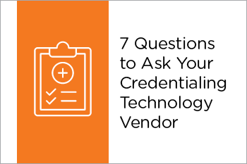 Credentialing Technology Vendor